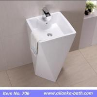 Buy cheap New Ceramic Bathroom Hand Wash Basin with Pedestal from Wholesalers