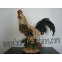 Quality Large Realistic Resin Cock Animal Sculpture as Yard Decor for sale