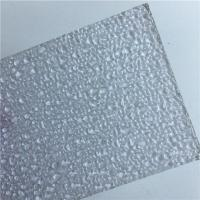 China Lexan Sabic Pc Resin Sheets Polycarbonate Embossed Sheet With UV Protection on sale