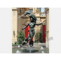 China Giant Bronze Casting Figure and Dolphins Water Fountain Statues on sale