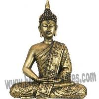 Buy cheap Modern Sitting Temple Ornaments Serene Brass Statue Thai Buddha from wholesalers