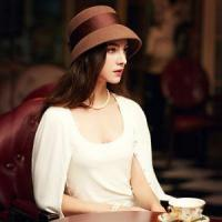 Quality Autumn and Winter 100% Wool Vintage Hat for Women Elegant Camel Black Bowknot Felt Fedora Hats for sale