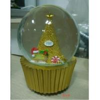 Quality Christmas Musical White Snow Globe for Baby for sale