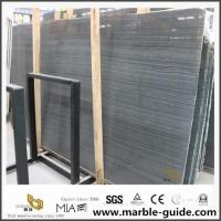 China Chinese Black Wood Grain Marble Slabs For Kitchen Flooring Tile Decoration on sale