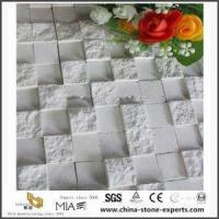 Customized White Travertine Stone Mosaic Tiles for Bathroom Wall Design