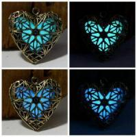 Buy cheap New Hollow Heart Pendant Diffuser Luminous Glow In The Dark Locket Necklace from Wholesalers
