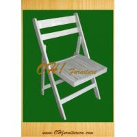 Buy cheap Beech Wood Slatted Folding Garden Chair from Wholesalers