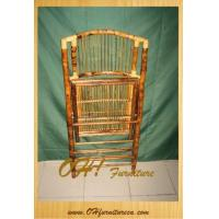 Buy cheap Antique Wood Bamboo and Ratten Folding Chair from Wholesalers