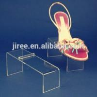 Quality OEM Acrylic Shoe Dispaly Case Rack Stand Risers Design for sale