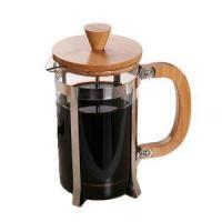Buy cheap New Arrives Wholesale Bamboo 1 Liter Borosilicate Glass Stainless Steel French Press from Wholesalers