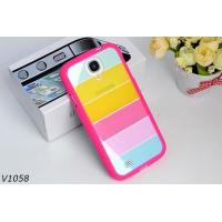 Quality Soft Silicone Protective Cover Case For Samsung Galaxy S4 i9500 Colorful Strips Case Rainbrow Case for sale