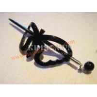 Quality Butterfly hair clasp black horn + AAA silver for sale