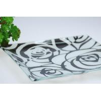 China Tempered glass plate square glass cake plate on sale