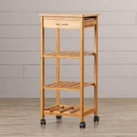 Quality Great Quality Bamboo Kitchen Stuff of Bamboo Trolley for sale