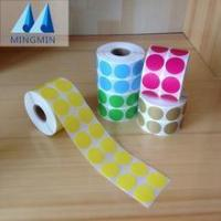 China Hot stamping foil blank adhesive barcode stickers roll for zebra barcode printer on sale