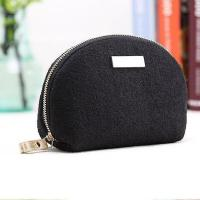 Quality High Quality Woolen Shell Shape Elegance Beauty Cosmetic Cases for sale