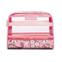 Quality Wholesale Stylish Waterproof Transparent PVC Beautiful Cosmetic Makeup Bag for sale