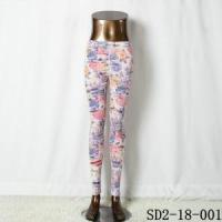 Fashion Knitting Open Smile Casual Pastel Floral Legging