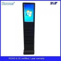 Quality 21.5 inch capacitive multi touch screen monitor kiosk with newspaper holder for sale