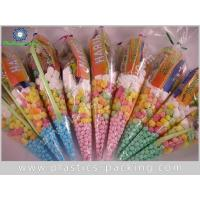 Quality Hot Chocolate OPP Cones Bags Candy Buffet Cone Polka Dots Bags Silver Cone Shaped Snack Bags for sale