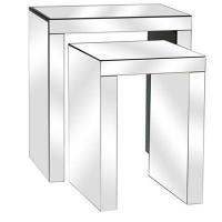 Buy cheap Fletcher Beveled Mirror Nested Tables 22x17x25 from Wholesalers
