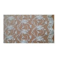 China Bridal Lace Fabric Lace Embroidery On Mesh Thread Lace Fabric (W9022) on sale