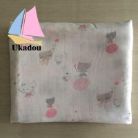Eco Friendly Custom Print Muslin Blanket for Baby Swaddle
