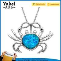 2017 best selling products korean style jewellery crab design necklace