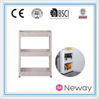 China Supplier Plastic Household Product Kitchen Bottle Storage Rack Fridge Kitchen Plastic Rack