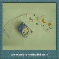 China Children learning cartoon game card on sale