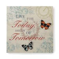 Art Gifts Live & Dream 3-D Butterfly Wall Art