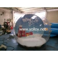 Quality Inflatable Dome Tent Clear Huge Inflatable Christmas Snow Globe for sale