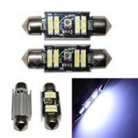 Buy cheap LED 2PCS WHITE ERROR FREE 4SMD LICENSE PLATE TAG LIGHT FRAME FESTOON 6418 6411 L-204 from Wholesalers