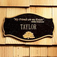 Buy cheap PERSONALIZED EMILY DICKINSON HOUSE PLAQUE from Wholesalers