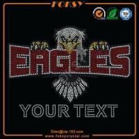 Quality Eagles Your text wholesale rhinestone transfers for sale