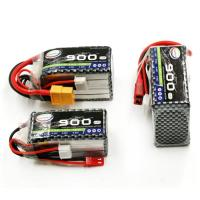 Quality Li-ion Recharge Battery Pack 900mah 7.4V 2S 25-60C RC Li-polymer Battery for sale