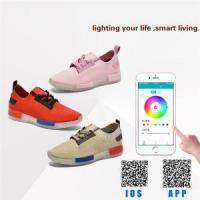China New Arrival App Control LED Lighting Up Sport Shoes For Woman And Child on sale