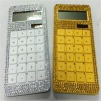 Quality 10 Digits Dual Power Diamonds Crystal Decorated Calculator for sale