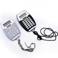 Quality 8 Digits Small Pocket Calculator with Lanyard Dual Power for sale