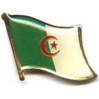 Buy cheap Algeria Flag Pins from wholesalers