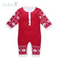 China Romper Baby Sweater Knitting Pattern Baby Christmas Outfits on sale