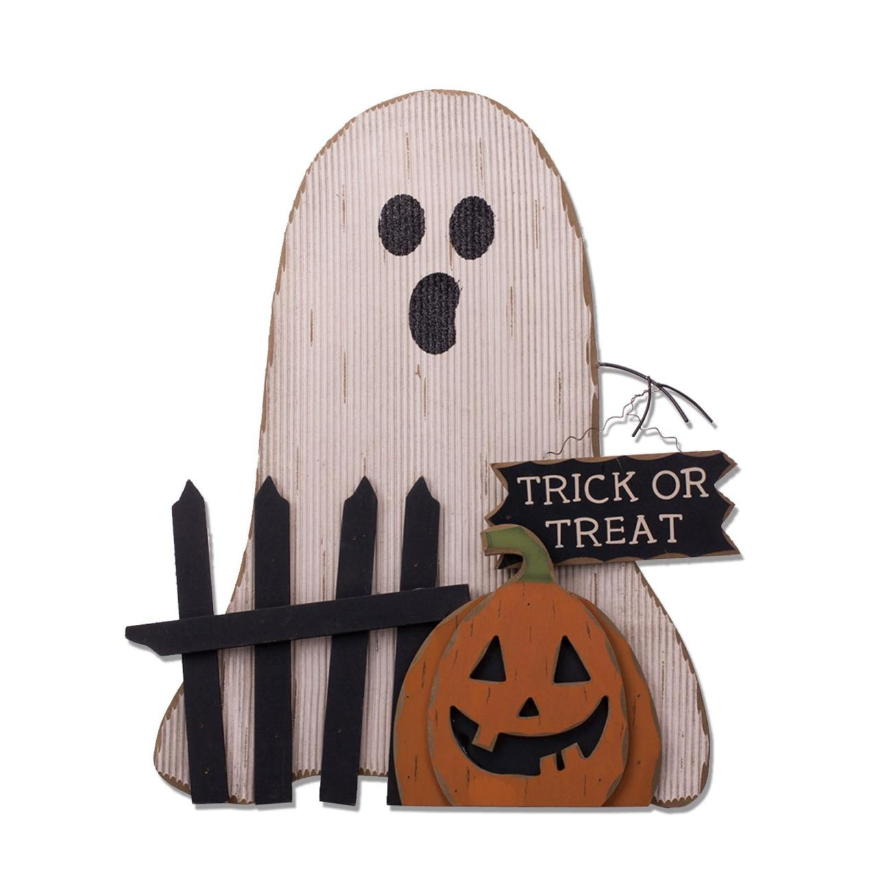 In stockWooden Ghost/Pumpkin Decor