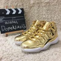 Quality Authentic Air Jordan 11s All Gold for sale