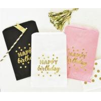 Quality Happy Birthday Gold Foil Candy Buffet Bags (set of 12) for sale