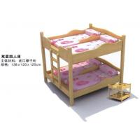 Quality Wholesale High Quality Kindergarten Kids Wooden Bunk Bed for Four Children for sale
