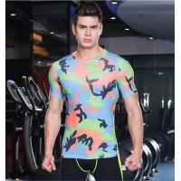 Quality Sport suit YG1076 Men Camouflage T Shirts for sale