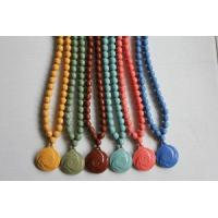 Quality Multi-colors Tourmaline Necklace with 65 pcs beads for sale