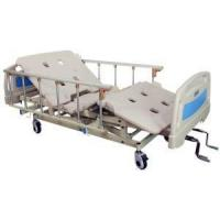 Buy cheap 3 Cranks Fowler Bed Vertical Lift Manual Hospital Bed with Aluminum on Casters with Brake from Wholesalers