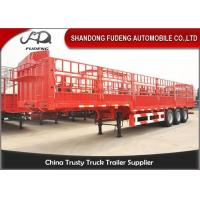 Quality 3 Axles 40 FT Side Wall Semi Trailer Steel Material 30-80 Tons Loading Capacity for sale