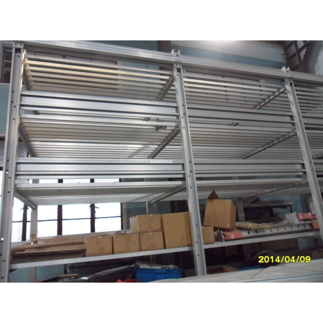 Aluminum mount shelves